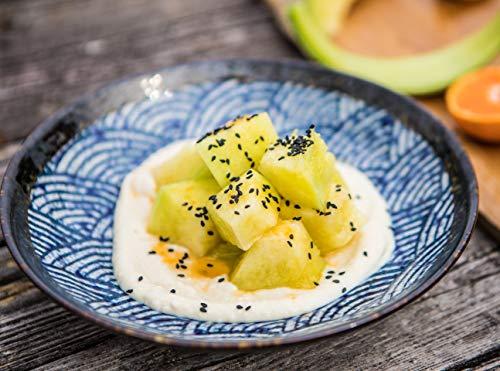 Cremiges Tofu mit Miso und Melone, und würziges Thunfisch Tataki