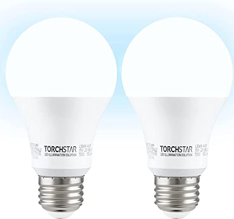 Amazon Com Torchstar Universal Garage Door Opener Led Light Bulb 100w Equivalent 1500lm Ultra Bright Ul Listed A19 Bulbs Minimize Interference For Outdoor Wall Lamp 15w E26 Base 5000k Daylight Pack Of 2 Home Improvement