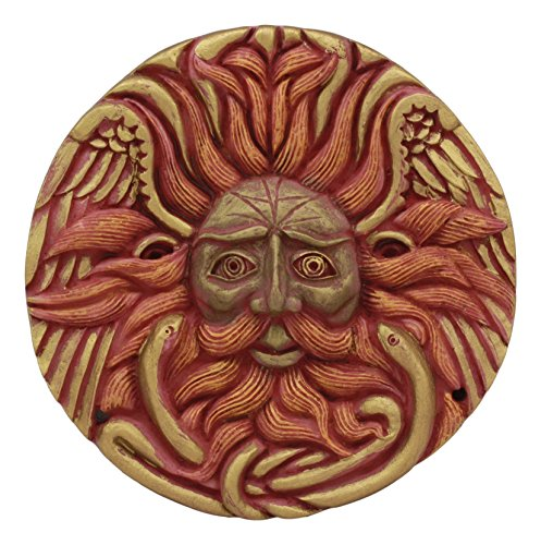 Ebros Oberon Zell Belenos Celestial Solar Radiant Celtic Sun God Round Wall Decor 5.25' Diameter Figurine Home Decor Sun Face Wall Plaque