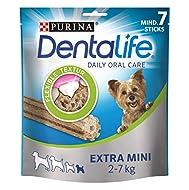 PURINA DENTALIFE Extra Mini Dog Dental Care Snacks Reduces Tartar Formation, Chicken, Very Small Dog...