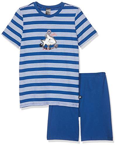 Schiesser Jungen Capt´n Sharky Kn Anzug kurz Zweiteiliger Schlafanzug, Blau (Blau 800), (Herstellergröße: 104)