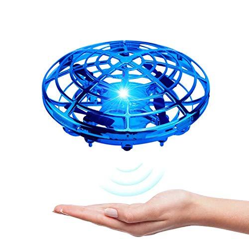 Kriogor UFO Mini Drohne, UFO Flying Ball Fliegendes Spielzeug Helikopter mit 360° Rotierenden und LED für 4-8 Jahren Kinder