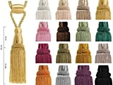 Borla con Cordel 16cm/50cm Abrazadera para Cortinas, Alzapano, Cuerda con Borla, Cortina, decoración del hogar