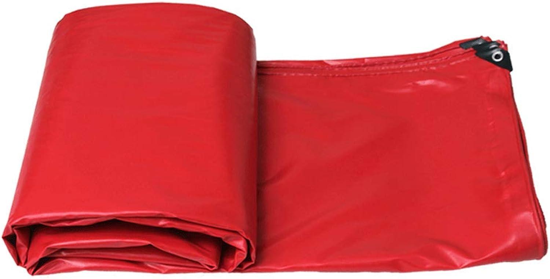 Rainproof Cloth Waterproof Sunscreen Tarpaulin Outdoor Tarpaulin Truck Awning Cloth (color   RED, Size   6m4m)