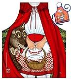 Caperucita Roja y el lobo–Fun Diseño Delantal–con un pequeño mini de delantal...