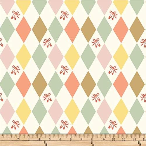 Birch Organic Fabrics Birch Organic Pirouette Harlequinade Knit Multi, Fabric by the Yard