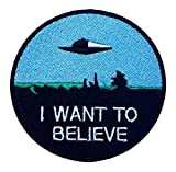 Application X-Files 'I Want to Believe' Embroidered Sew/Iron-on Patch
