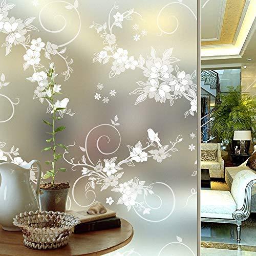 LMKJ Película de Ventana autoadhesiva de privacidad esmerilada Pegatina de Vidrio en Relieve Papel de Aluminio decoración del hogar de PVC Pegatina de glsaa B29 60x100cm