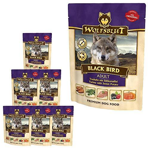 Wolfsblut | Black Bird | 7 x 300 g | Truthahn | Nassfutter | Hundefutter | Getreidefrei