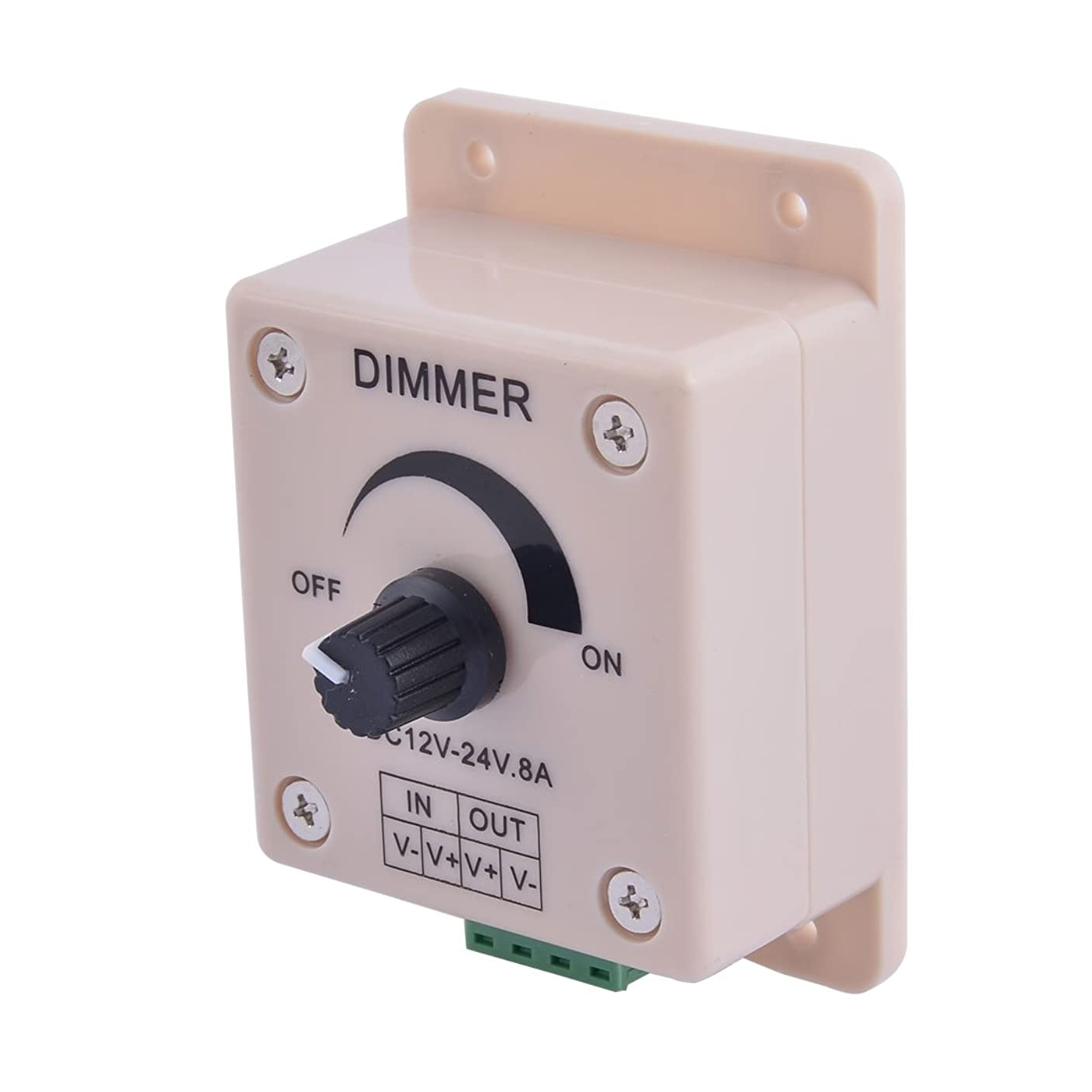 抹消おもちゃ針uxcell LEDライトディマー 調光器 DC12V-24V 8A 調整可能 LEDストリップライト用 プラスチック