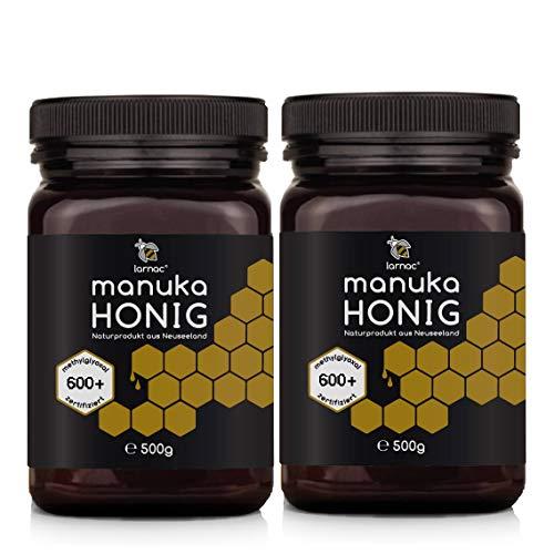 Larnac Manuka Honig MGO 600+ aus Neuseeland, 2x500g, Methylglyoxal zertifiziert