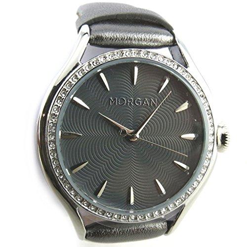 Armbanduhr 'french touch' 'Morgan'grau (diamanten).