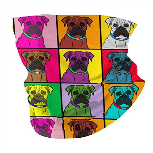 ZHANGPEIENfaqi Boxer Dogs Warhol - Pañuelo de cuello para hombre y mujer, color rojo