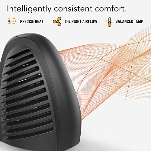 Vornado AVH2 Advanced Whole Room Heater with Automatic Climate Control, Timer, Fan Only Option, Black