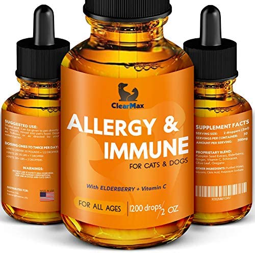 Clearmax Allergy Immunity for Dogs Dog Itch Relief Natural Supplement for Cat Allergy Dog Allergy product image