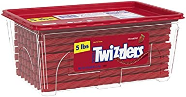 Save 25% on Twizzlers Halloween Candy, Bulk Strawberry Licorice, 5 Pounds, Canister