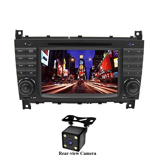 XISEDO Android 7.1 Autoradio 2 Din In-dash Car Radio 7' Car Stereo RAM 2G Navigatore GPS con Schermo di Tocco e Lettore DVD per Mercedes-Benz C Class W203/ Benz CLK W209 (con Fotocamera Posteriore)