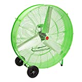 OEM TOOLS High-Velocity Direct-Drive Barrel Fan 12,700 CFM, Total Airflow Control, Cool Your Workspace,...
