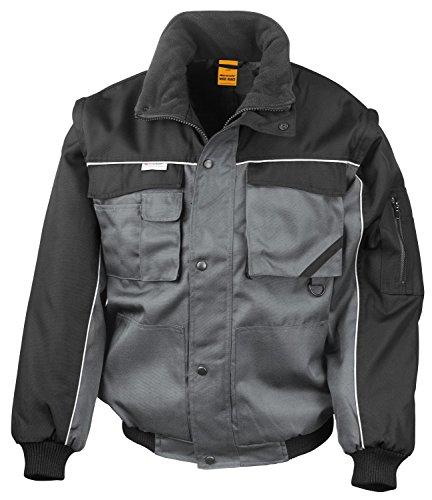 RT71 Workguard Heavy Duty Jacke Arbeitsjacke winddicht wasserabweisend, Farbe:Grey-Black;Größen:XL XL,Grey-Black