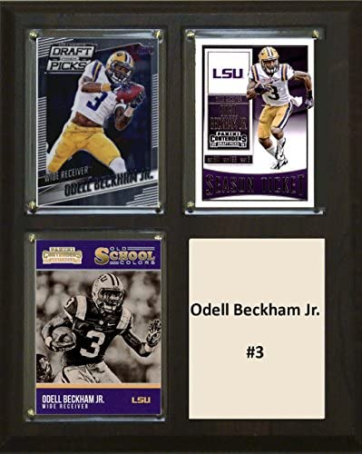 NCAA LSU Tigers Men s Odell Beckham Jr Three Card Plaque Brown 8 X10 product image