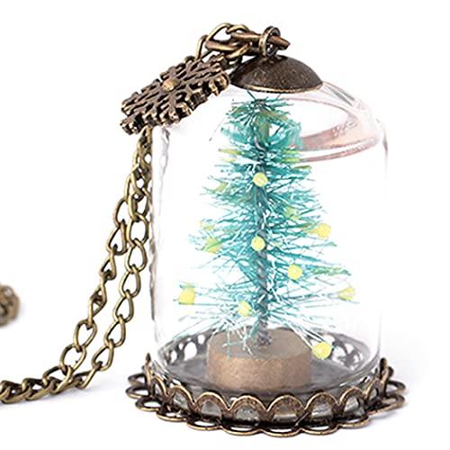 COSYOO Collar Colgante Árbol De Navidad Hecho A Mano Luminoso Vidrio Aleación...
