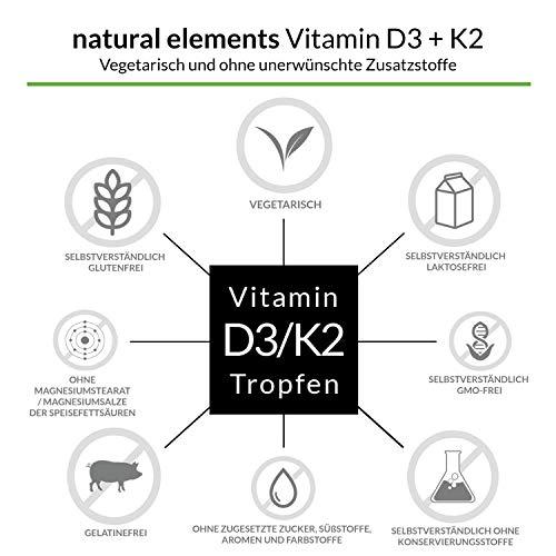 Vitamin D3 + K2 Tropfen 50ml - Premium: 99,7+% All-Trans (K2VITAL® von Kappa) + hoch bioverfügbares D3 - Laborgeprüft, hochdosiert, flüssig - 3