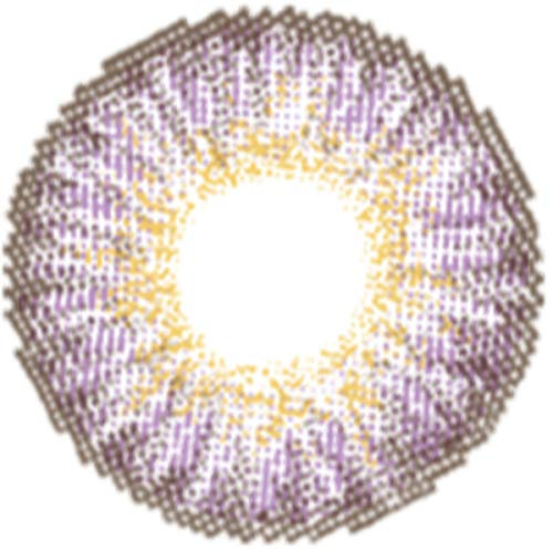 Matlens – EOS Farbige Kontaktlinsen mit Stärke violet lila Big eyes G-307 2 Linsen 1 Kontaktlinsenbehälter 1 Pflegemittel 50ml