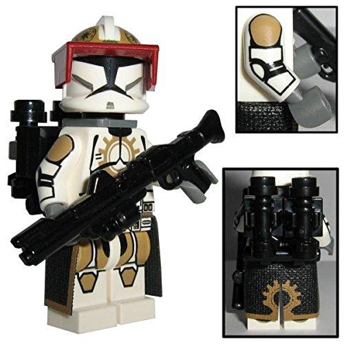 Custom Brick Design 87th Star Corps Legion Jet Clone Trooper Figur V.1 - modifizierte Minifigur des bekannten Klemmbausteinherstellers und somit voll kompatibel zu Lego