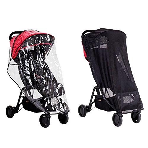 Mountain Buggy – Regenverkleidung und Sonnenschutz für Nano Kinderwagen
