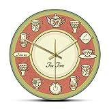 Eld Hora del té Vajilla Retro Diseño Moderno Comedor Reloj