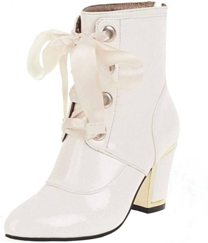 Unm Women's Fashion Ankle Boots Block Heel