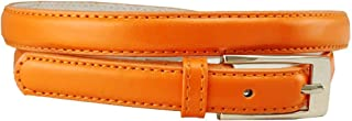 Women's Skinny Solid Color Ladies Fashion Dress Casual Belt 3/4