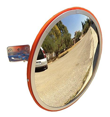 SNS SAFETY LTD Espejo Convexo de Seguridad para el Tráfico y Aparcamientos, Elimina las Esquinas Ciegas, para Carreteras, Almacenes, Garajes, Oficinas y Tiendas (Diámetro 30 cm, Soporte de Pared)