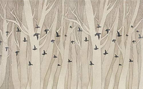 Carta da Parati 3d Murales da Parete Uccello Volante In Legno Astratto Fotomurali Parete Soggiorno Tv Sfondo Camera da Letto Decorazione Murale 400x280cm