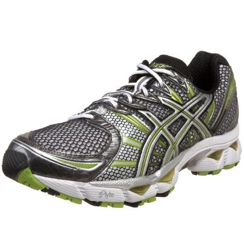 ASICS Men's GEL-Nimbus 12 Running Shoe,White/Black/Royal,10 M US