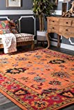 nuLOOM SPRE21A Montesque Hand Tufted Wool Rug, 7' 6' x 9' 6', Orange