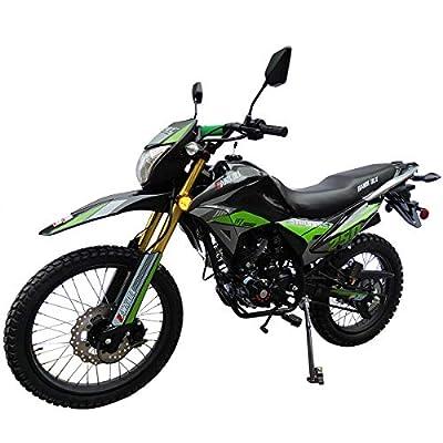 X-Pro Hawk DLX 250 EFI Fuel Injection 250cc Endure Dirt Bike Motorcycle Bike Hawk Deluxe Dirt Bike Street Bike Motorcycle(Green) from X-Pro