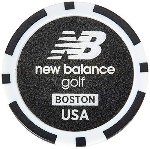 [ニューバランス ゴルフ] ボールマーカー (マーカー:40mm リバーシブル仕様) / 012-0184012 / ゴルフ クリップ 010_ブラック