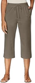 Karen Scott Petite Drawstring Capri Pants