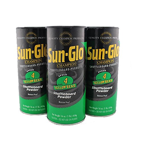 Best Price Sun-Glo 12 Pack 4 Speed Yellow Bear Shuffleboard Powder Wax