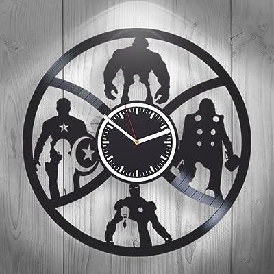 Handmade Vinyl Wall Clock,The Avengers Comics, Movie Marvel DC, Home Decor,