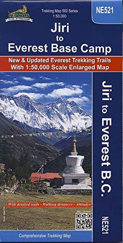 Trekking Map NE521 Jiri to Everest Base Camp
