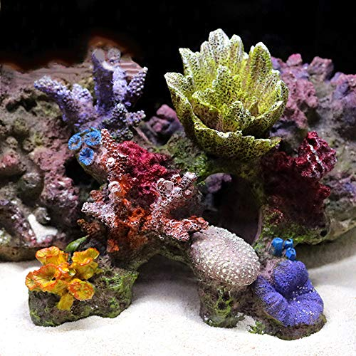 Danmu 1pc 5.9 x 5.51 x 3.34 Polyresin Coral Ornament for Fish Tank Aquarium Decoration