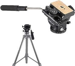 Video Head VT-1510 Heavy Duty Camera Tripod Drag Pan Tilt Head with Quick Release Plate 1/4