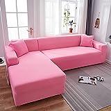 WXQY Fundas de Color Liso Funda de sofá elástica elástica Funda de sofá de protección para Mascotas Funda de sofá de Esquina en Forma de L con Todo Incluido A16 1 Plaza