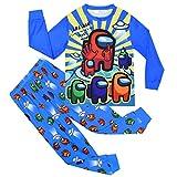 Among Us Juego de pijama para niños y niñas, manga larga, ropa de dormir y pantalones