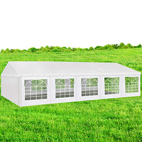 AMERICAN PHOENIX Party Tent 16x32 Heavy Duty Large Commercial Canopy Wedding Events Tent (16x32, White)