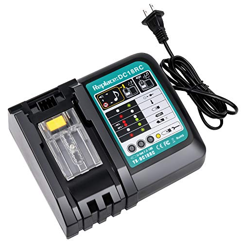 Wimaha マキタ 充電器 DC18RC 互換充電器 マキタ14.4v/18v バッテリー対応 マキタ互換充電器 bl1830 bl1430 bl180b bl18060 bl1430 bl1430b bl1890など対応 1年保証