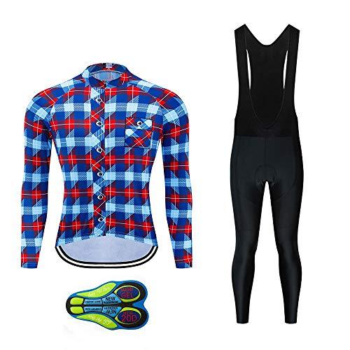 Moxilyn fietskleding, lange mouwen, lange mouwen, met gel, 9D, Moda complete set, sportkleding voor fiets, fietsen, jersey voor heren