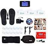 DR-HO'S Pain Therapy System Pro TENS Unit and EMS for Pain Relief and Full Body Pain Management - Ultimate Package (Includes Back Relief Belt, Travel Foot Therapy Pads, and More) and 1 Year Warranty